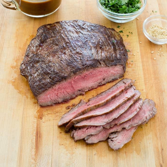 Sesame-Hoisin Glazed Flank Steak