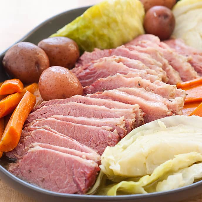 New England–Style Home-Corned Beef and Cabbage