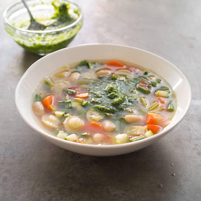 Provencal Vegetable Soup (Soupe au Pistou)