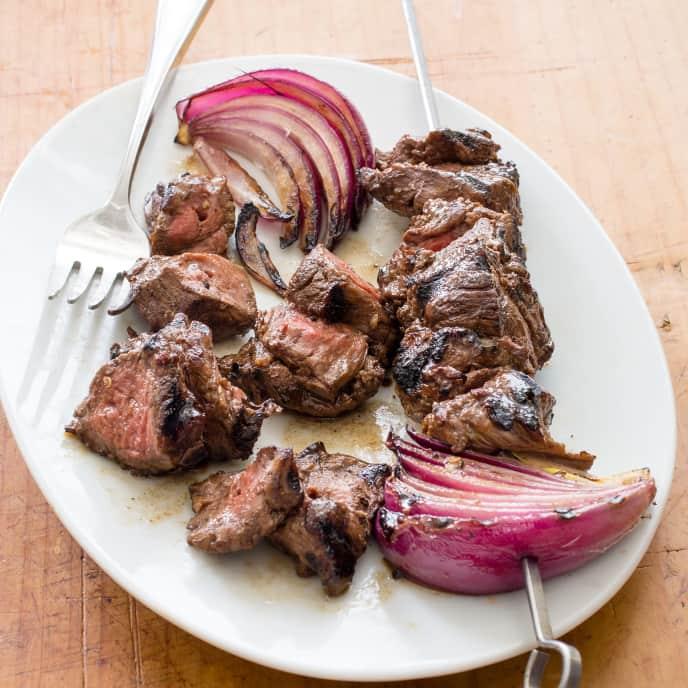 Grilled Balsamic Beef Skewers