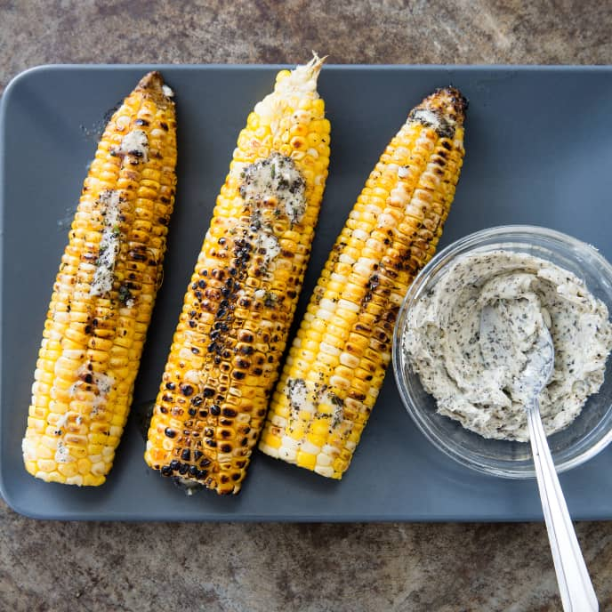 Husk-Grilled Corn