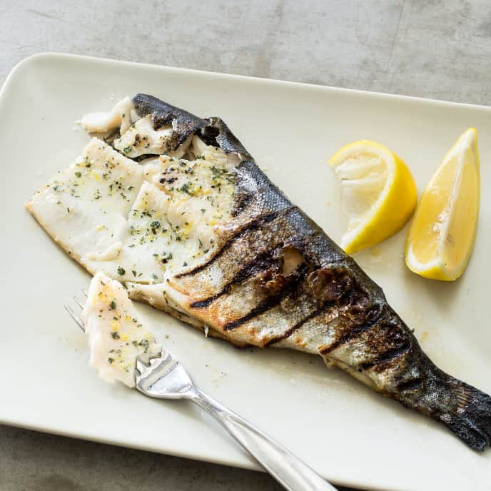 Grilled Whole Trout with Lime and Coriander