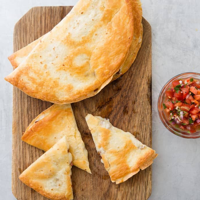 Chorizo Quesadillas for a Crowd