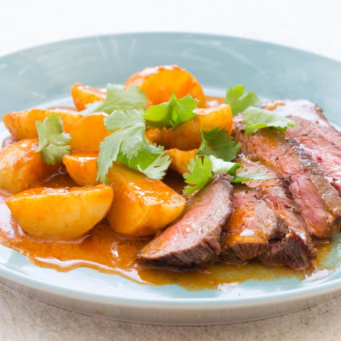 Flank Steak with Red Curry Potatoes
