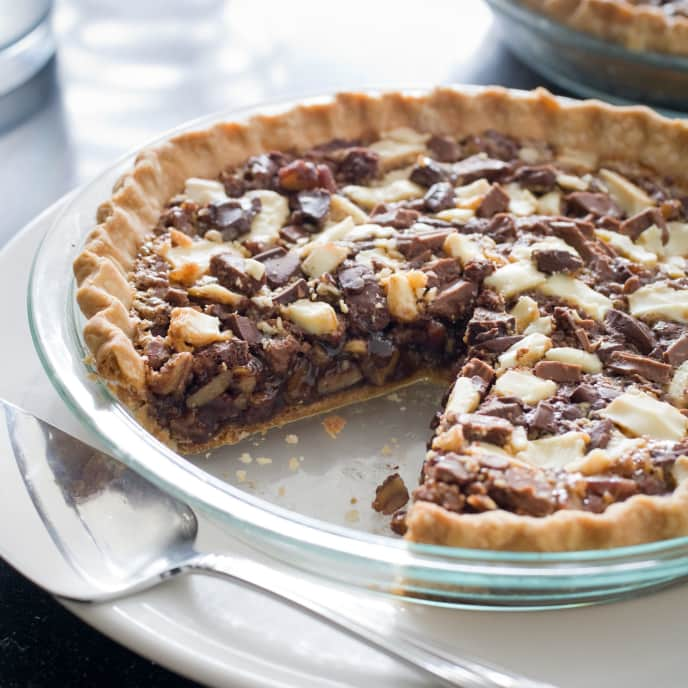Triple Chocolate Chunk Pecan Pie