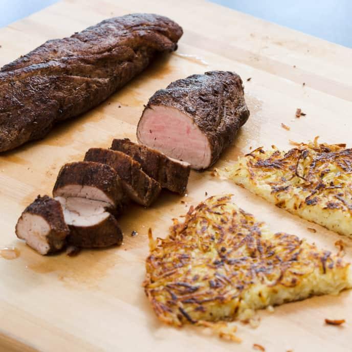 Spiced Pork Tenderloin with Potato Rösti