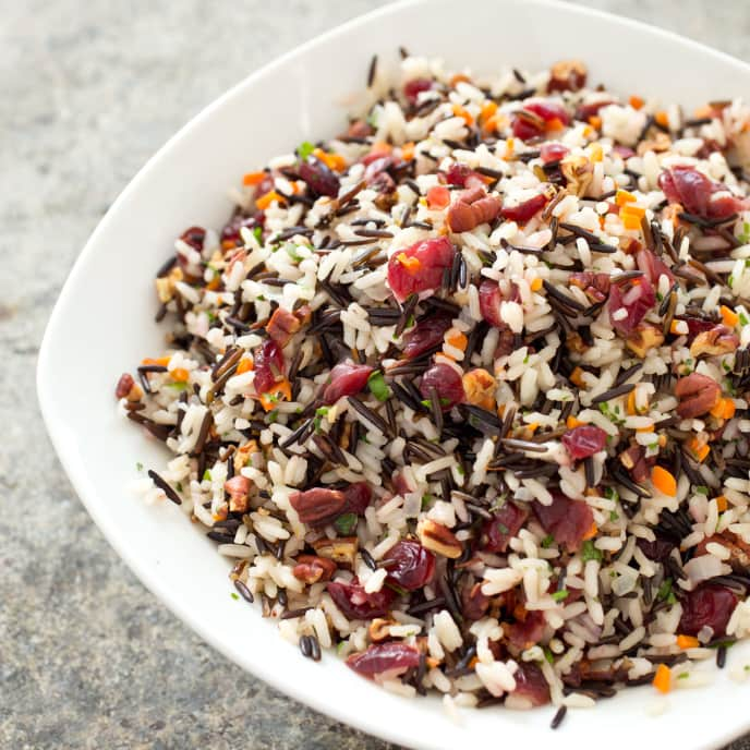 Wild Rice Pilaf with Pecans and Dried Cranberries
