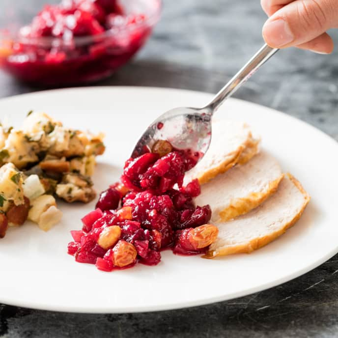 Cranberry Chutney with Fennel and Golden Raisins