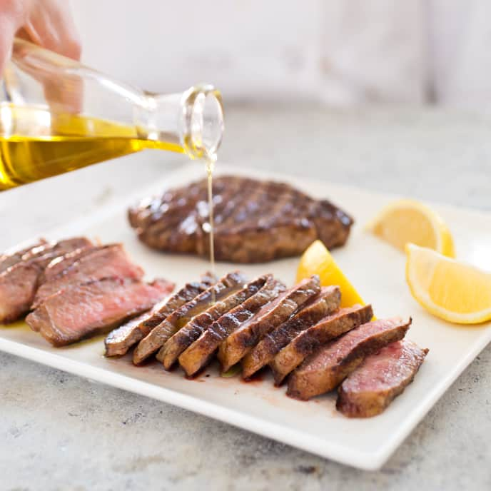 Gas-Grilled Tuscan Steak with Olive Oil and Lemon—Bistecca all Fiorentina