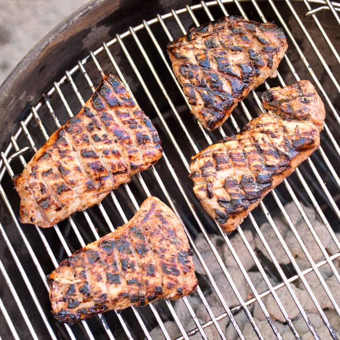 Spicy Orange-Ginger Grilled Pork Tenderloin Steaks