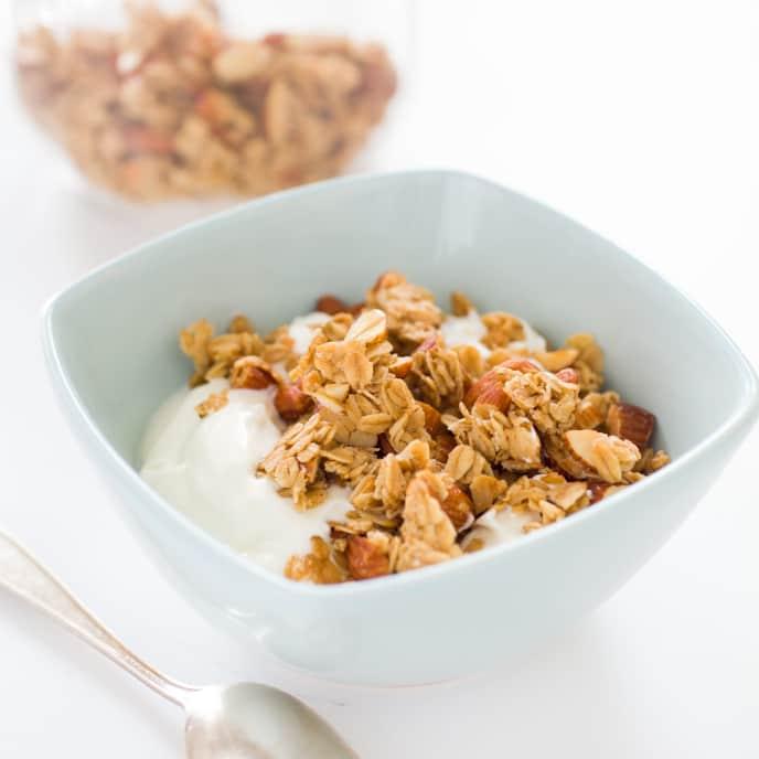 Hazelnut Granola with Dried Pear