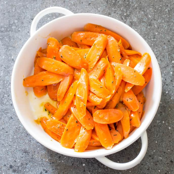 Glazed Carrots with Ginger and Rosemary