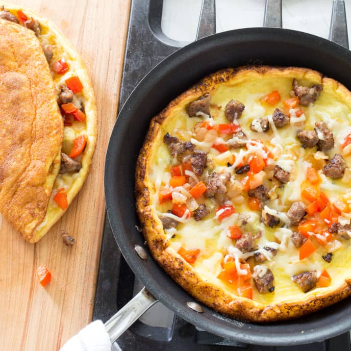 Sausage and Pepper Filling for Fluffy Diner-Style Omelet