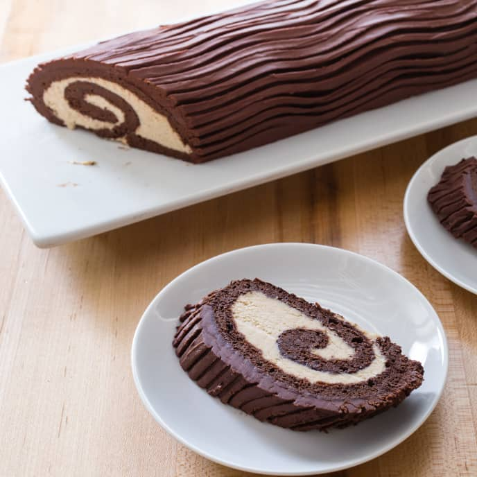 Bittersweet Chocolate Roulade or Yule Log