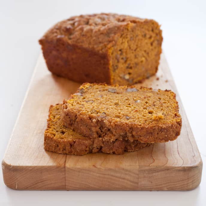 Pumpkin Bread with Candied Ginger