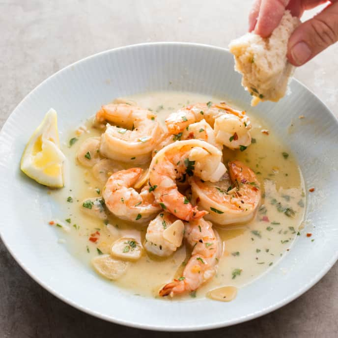 Shrimp Scampi for Two