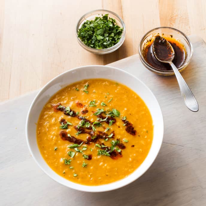 Red Lentil Soup with Warm Spices