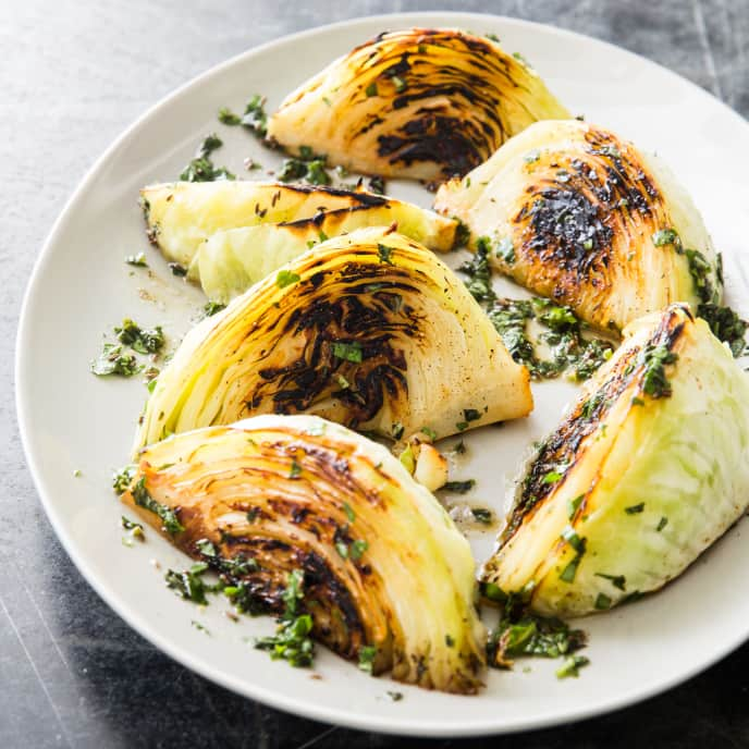 Skillet-Roasted Cabbage