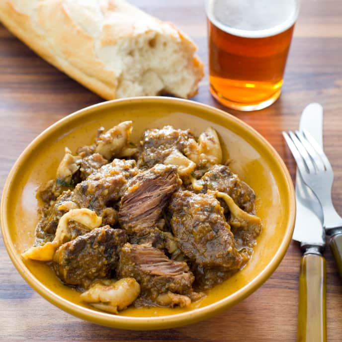 Catalan-Style Beef Stew with Mushrooms