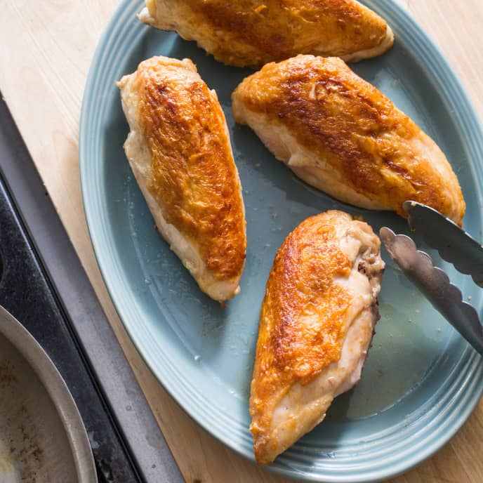 Roasted Bone-In Chicken Breasts
