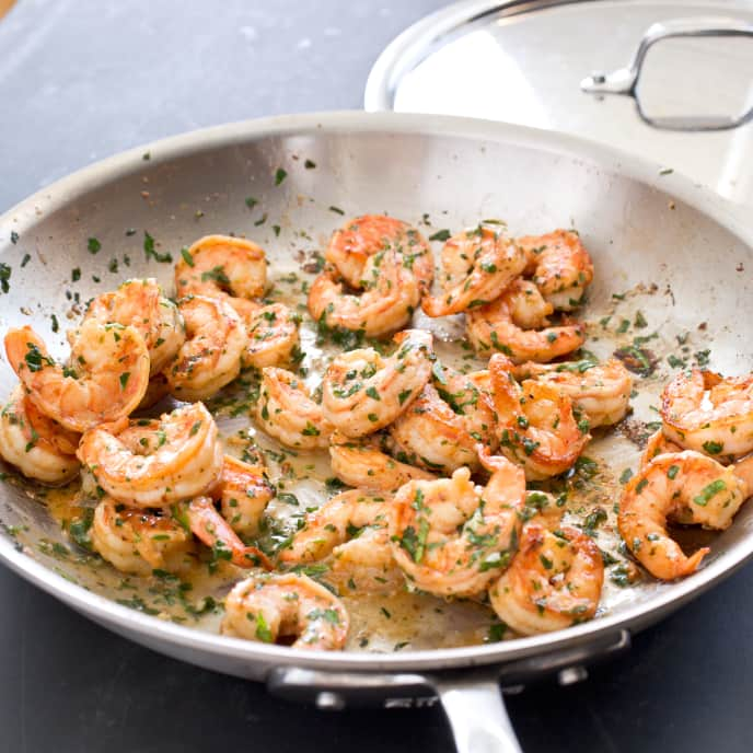 Pan-Seared Shrimp with Garlic-Lemon Butter