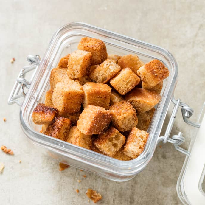 Buttery Rye Croutons