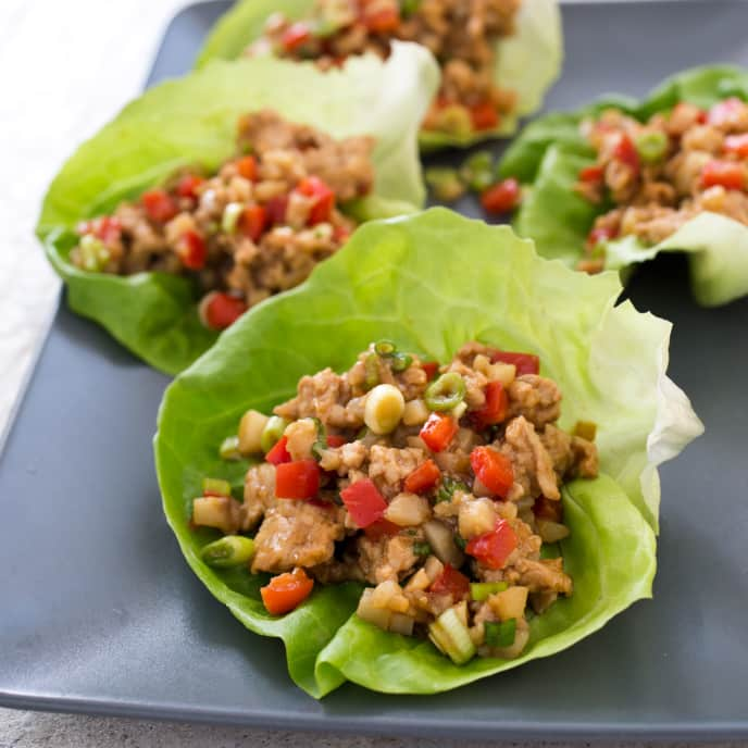 Chicken and Bell Pepper Lettuce Wraps