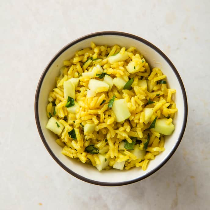 Curried Rice Pilaf with Apples