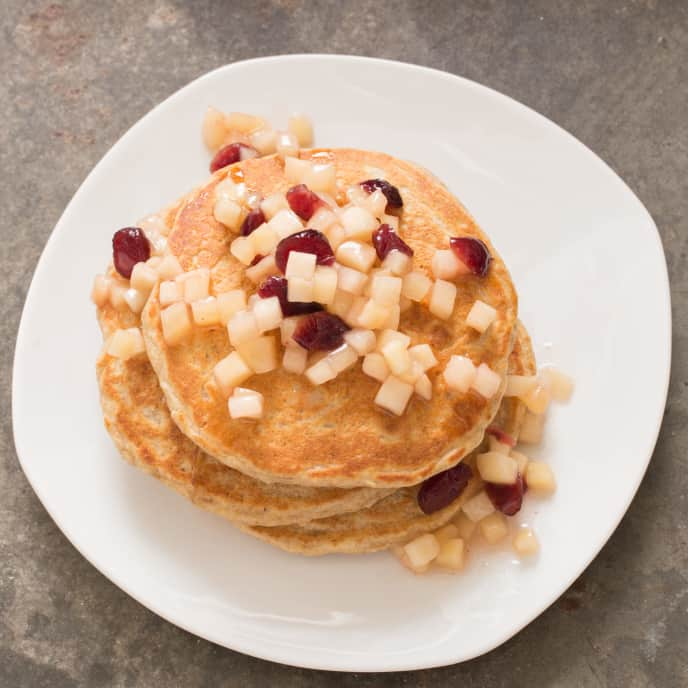 Apple, Cranberry, and Pecan Topping for Pancakes