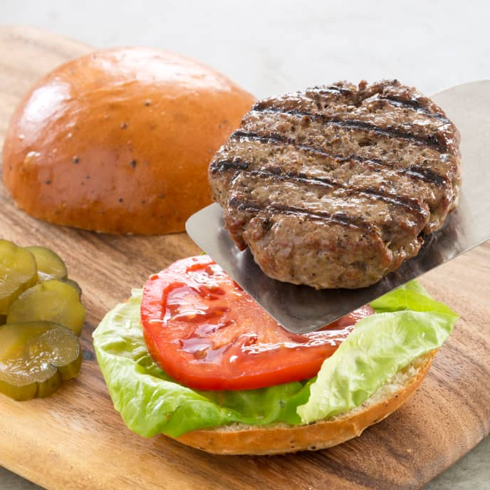 Gas-Grilled Hamburgers