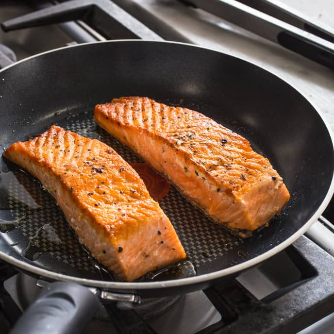 Pan-Seared Salmon for Two