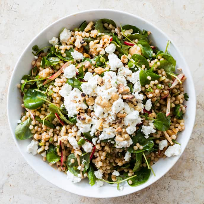 Israeli Couscous with Radishes and Watercress