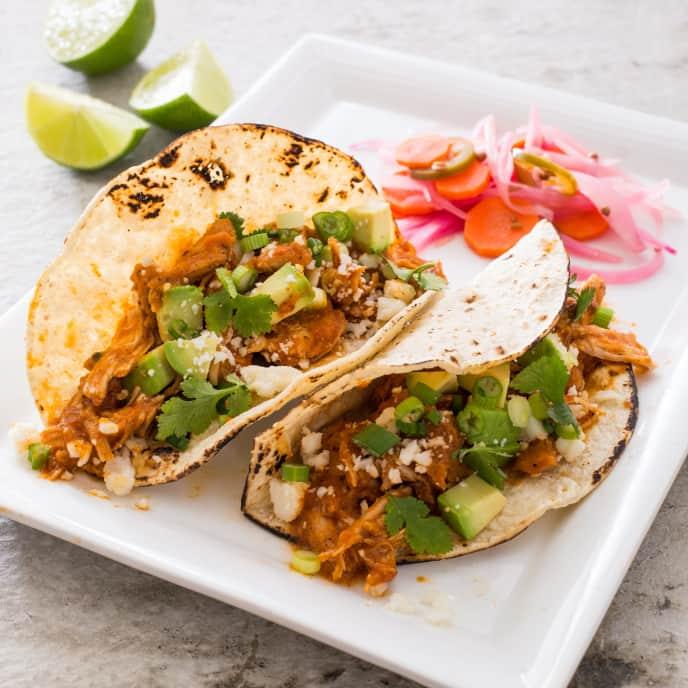 Shredded Chicken Tacos (Tinga de Pollo)