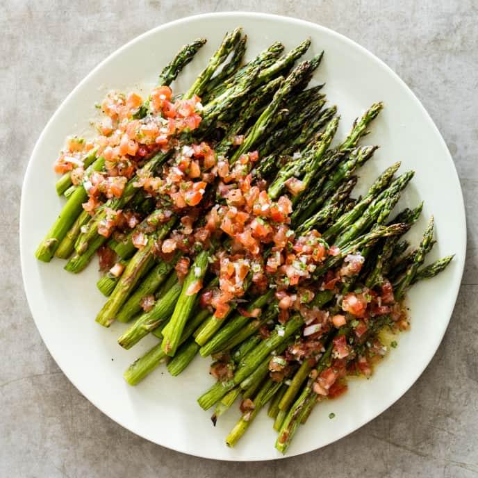 Asparagus with Tomato-Basil Vinaigrette