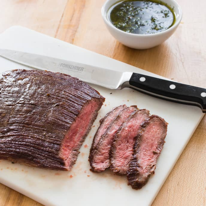 Paleo Seared Flank Steak with Chimichurri Sauce
