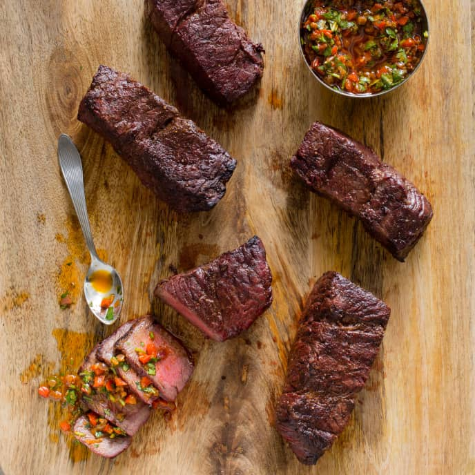 Grilled Boneless Short Ribs with Argentine-Style Pepper Sauce
