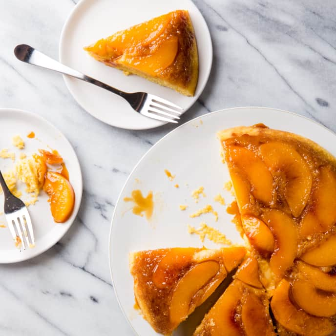 Peach Cornmeal ­Upside-Down Cake