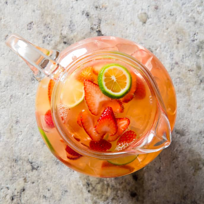 Strawberry-Lime Lemonade