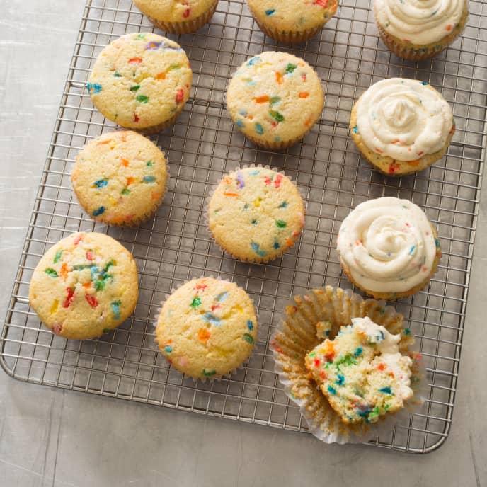 Gluten-Free Rainbow Sprinkle Cupcakes