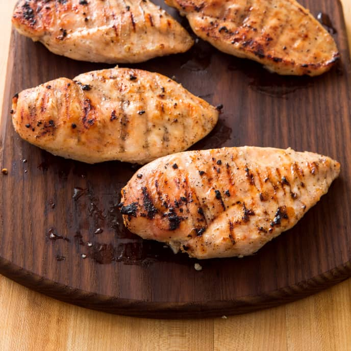 Grilled Boneless, Skinless Chicken Breasts