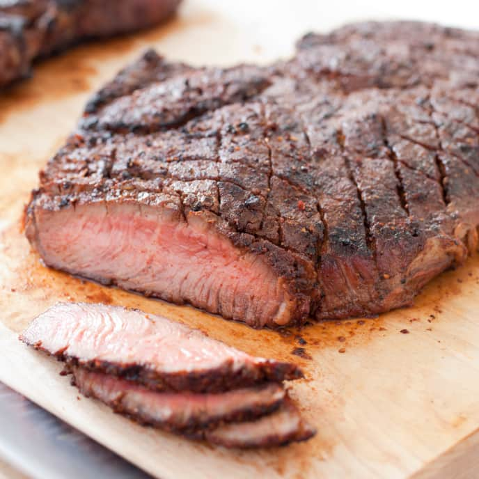 Grilled Steak with Ancho Chile-Coffee Rub