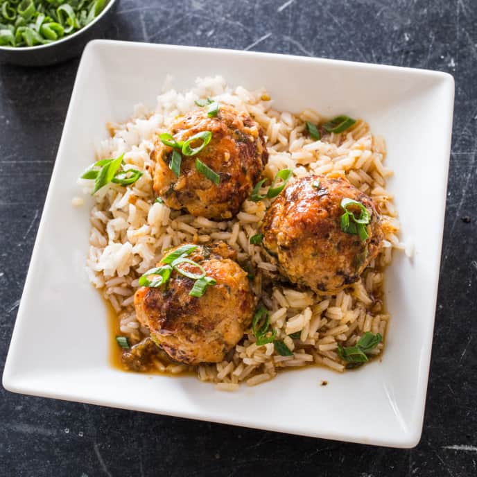 Turkey Meatballs with Soy and Sesame