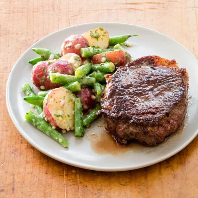 Steak with Dijon Green Bean-Potato Salad
