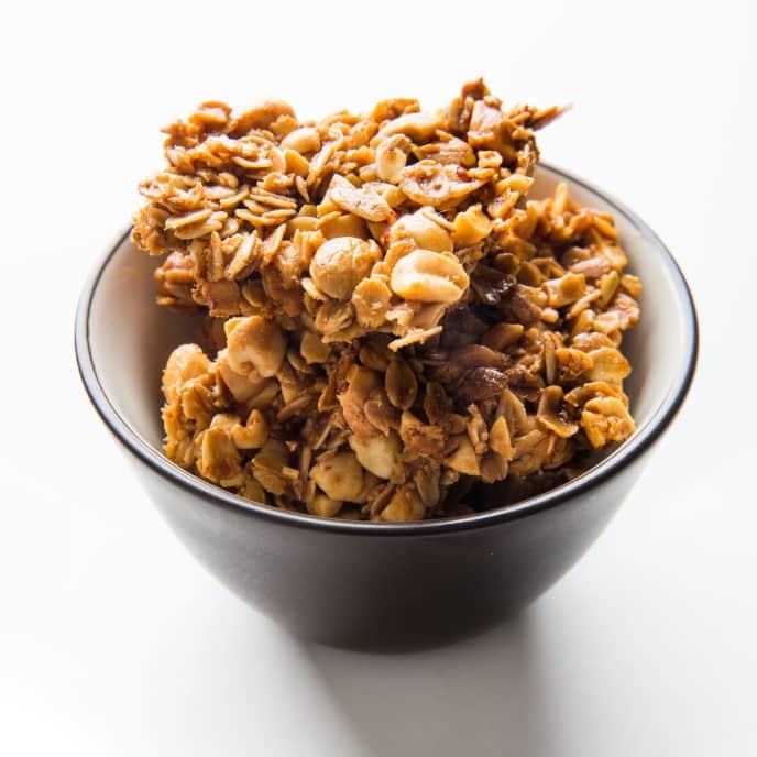 Salted Caramel–Peanut Granola