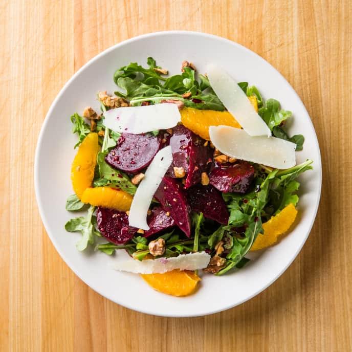 Marinated Beet Salad with Oranges and Pecorino