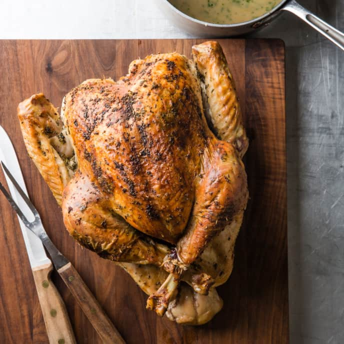 Easy Herb-Roasted Turkey with Gravy