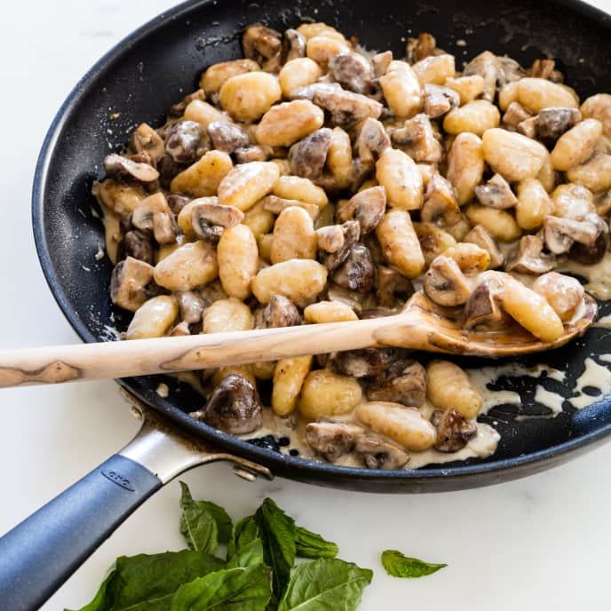 Creamy Gnocchi with Mushrooms