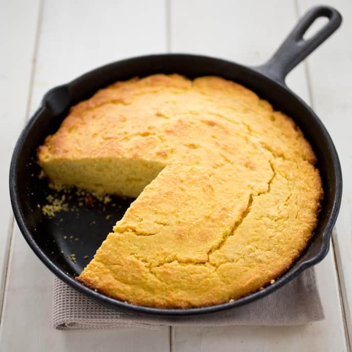 Cast Iron Southern-Style Cornbread