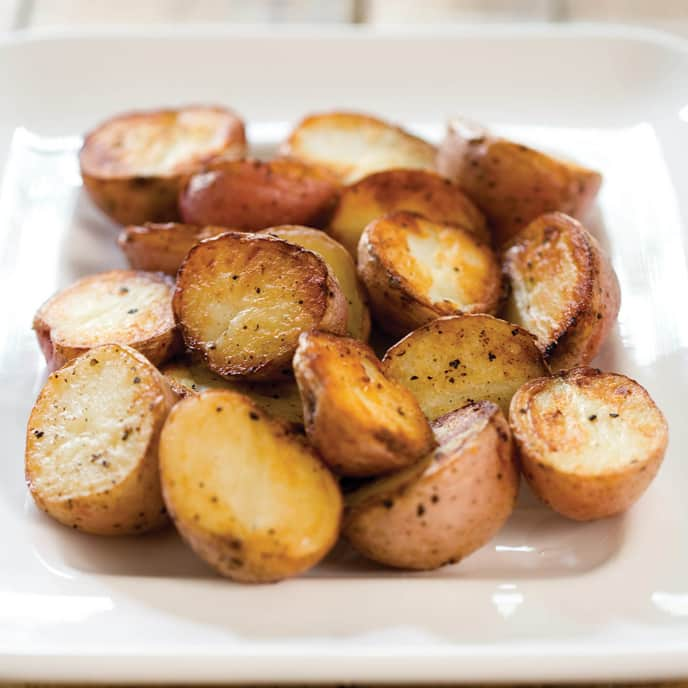 Roasted Potatoes with Spicy Caramelized Onions
