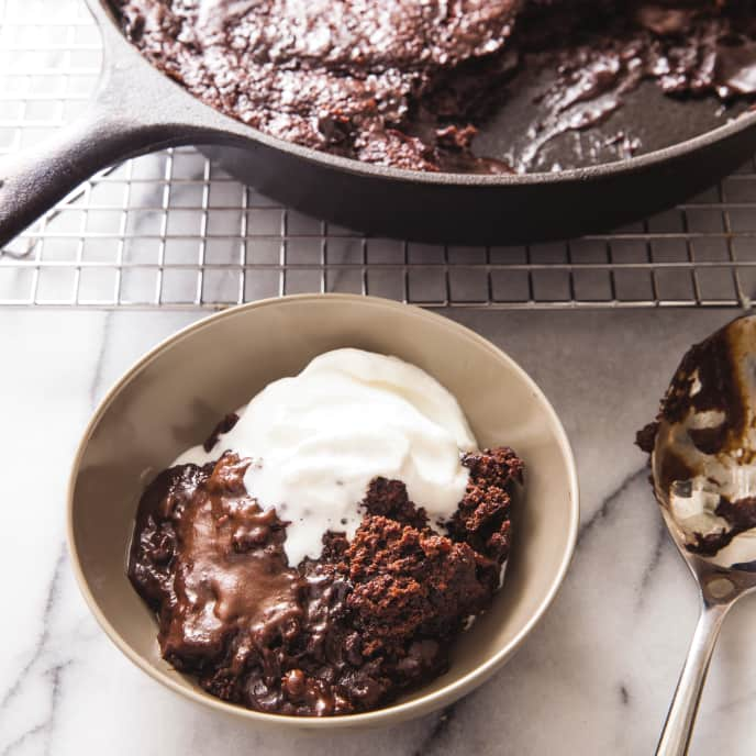 Cast Iron Hot Fudge Pudding Cake
